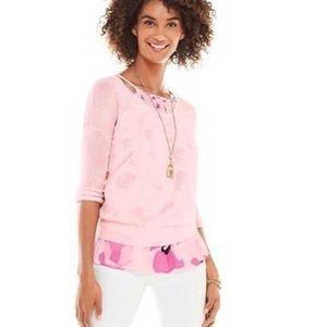 Cabi New Label Blush Lightweight Layering Sweater